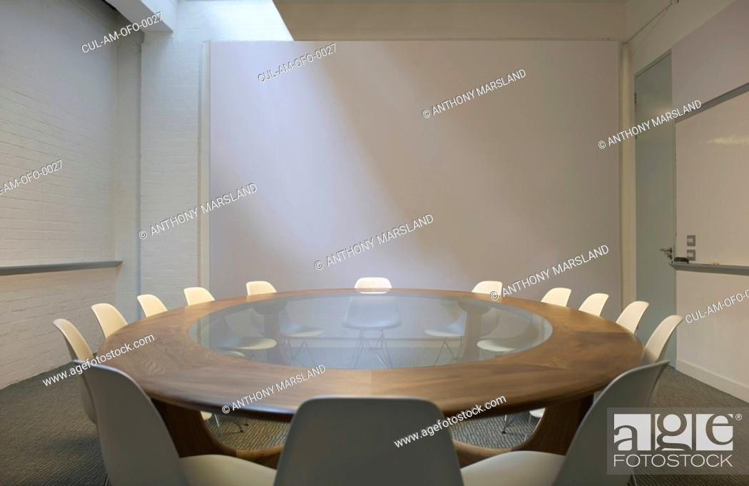 Stock Photo: Empty boardroom.