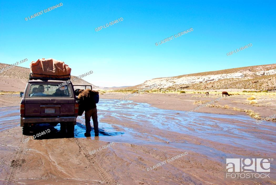 Stock Photo: Desert of Lipez, Department of Potosi, Sud Lipez Province, La Paz, Bolívia.
