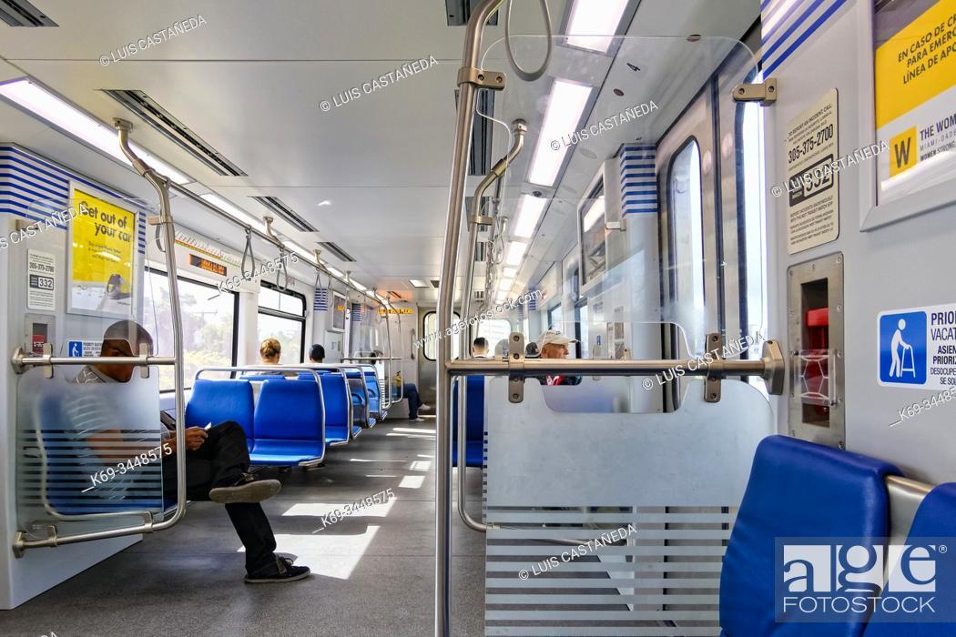 Stock Photo: Metrorail Wagon. Miami. Florida. USA.