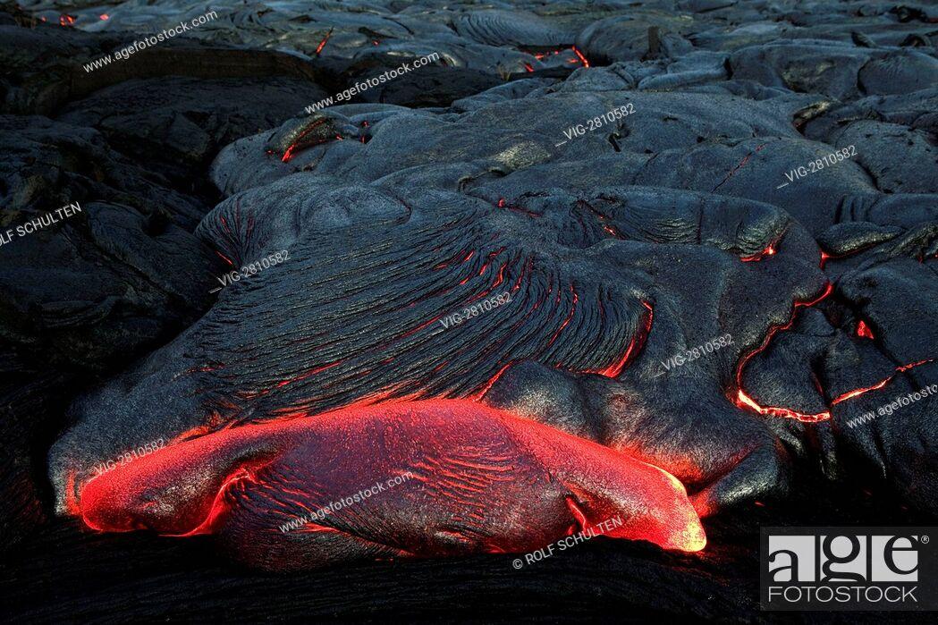 Imagen: USA, UNITED STATES OF AMERICA, KALAPANA, 13.07.2010: Lava field at the Kilauea shield volcano (Volcanoes National Park, island of Hawai'i).