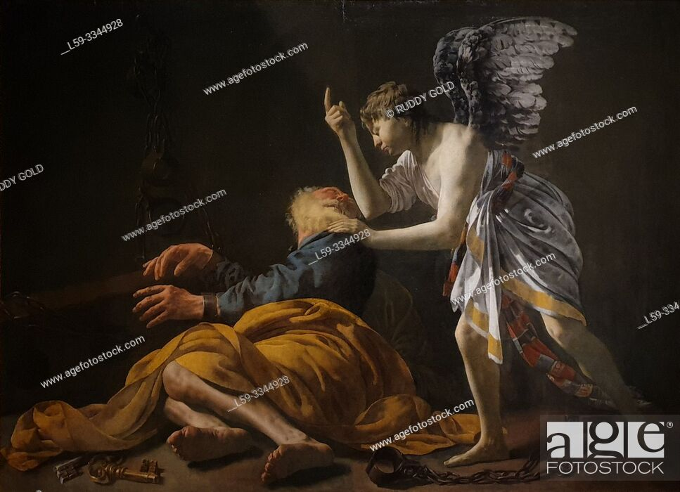 Imagen: 'The Liberation of St Peter', 1629, Hendrick ter Brugghen (1588-1629).