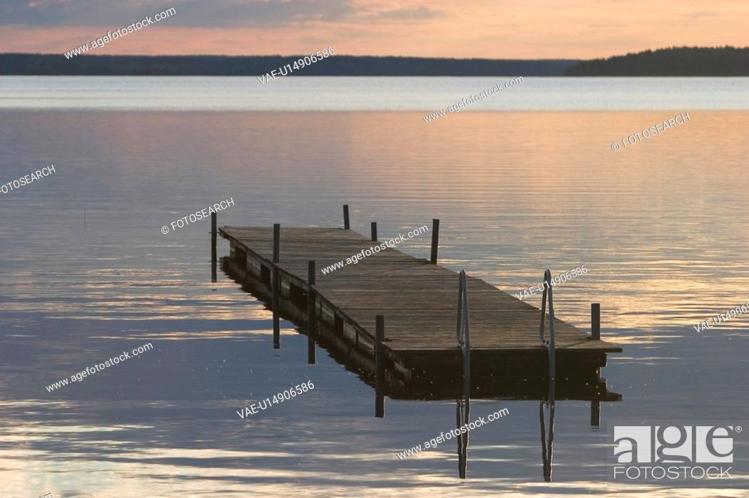 Stock Photo: Clouds, Dock, Nature.