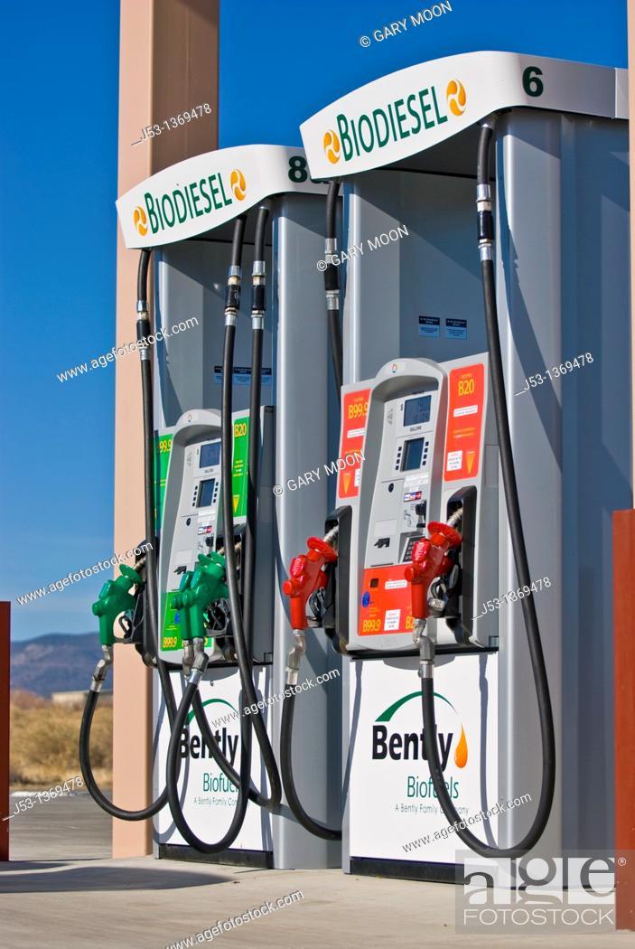 B99 biodiesel and E85 ethanol fuel pump at retail gasoline