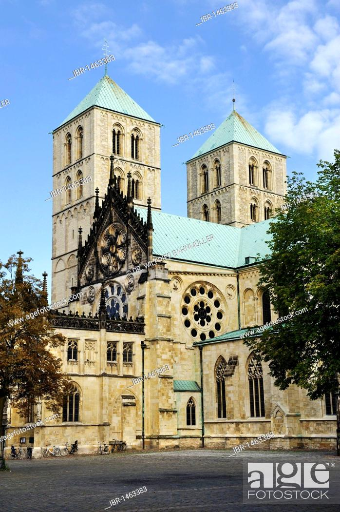 Stock Photo: Saint Paul's Cathedral, Muenster, North Rhine-Westphalia, Germany, Europe.