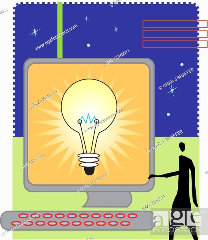 Stock Photo: computer idea.