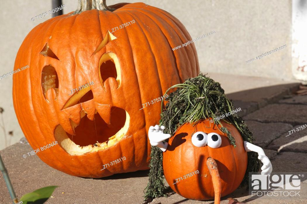 Stock Photo: Halloween, decoration, pumpkins, .