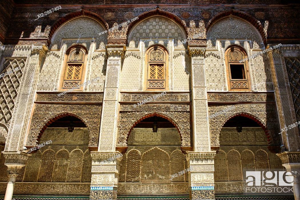 Stock Photo: Al Attarine Madrasa in Fez, Morocco.