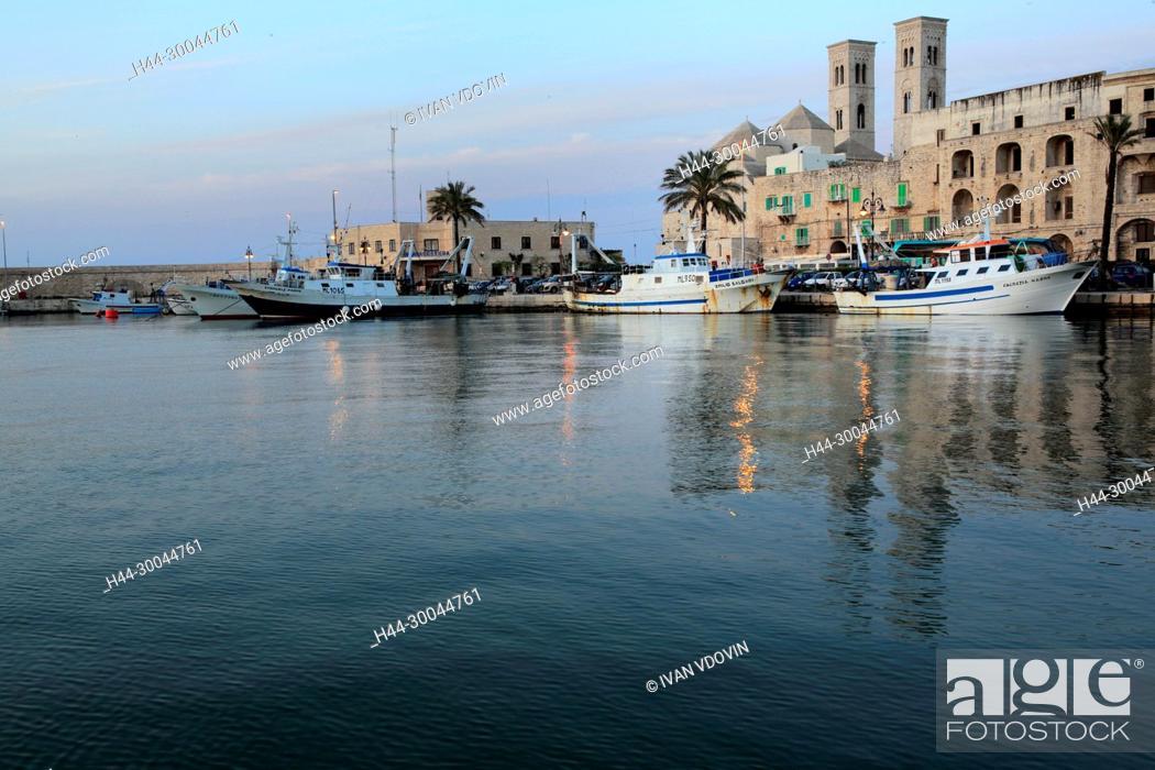 Stock Photo: Molfetta Harbour, Apulia, Italy.