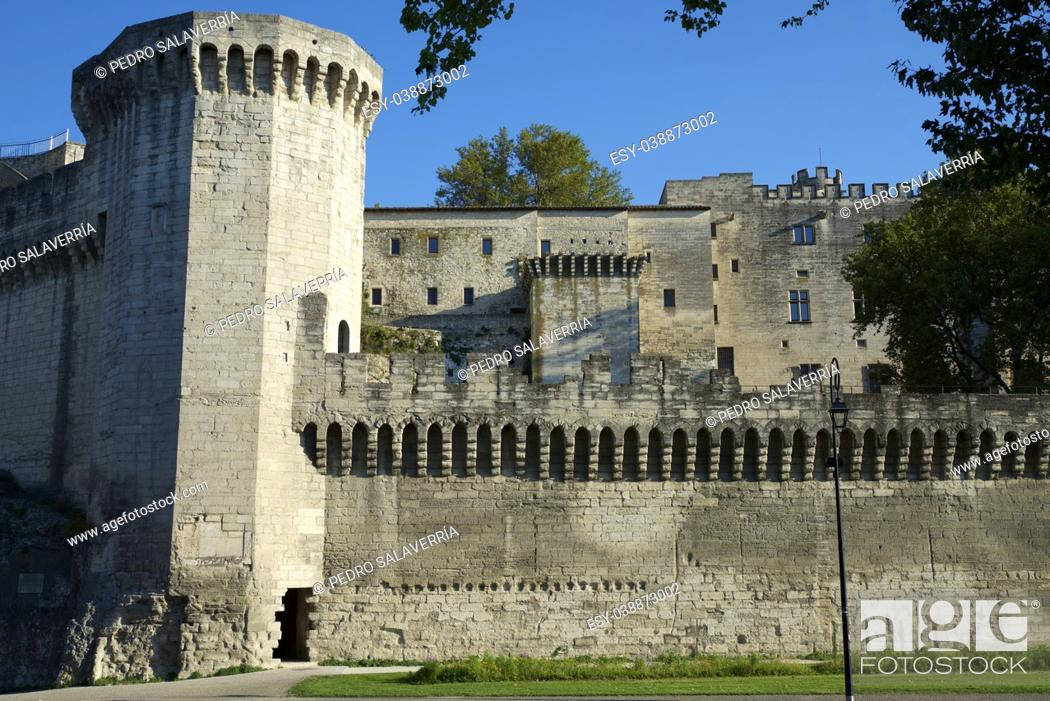 Stock Photo: Popes Palace in Avignon, Provence, France.