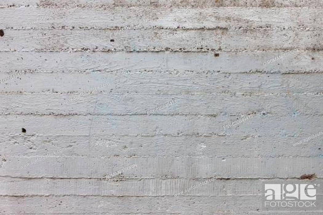 Stock Photo: Vintage grey painted concrete wall background.