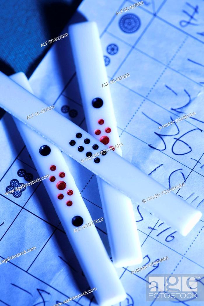 Stock Photo: Mahjong chips.