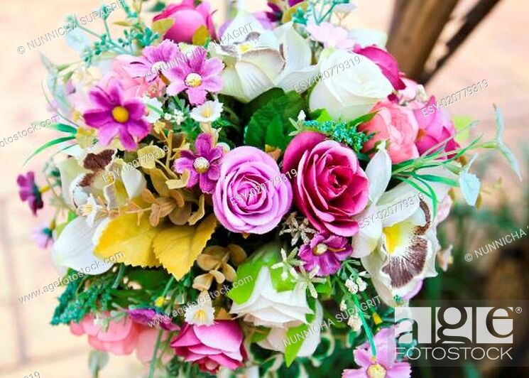 Stock Photo: Decoration artificial flower.