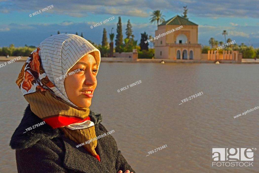 Stock Photo: Bassin La Menara, Marakesh, Morocco.
