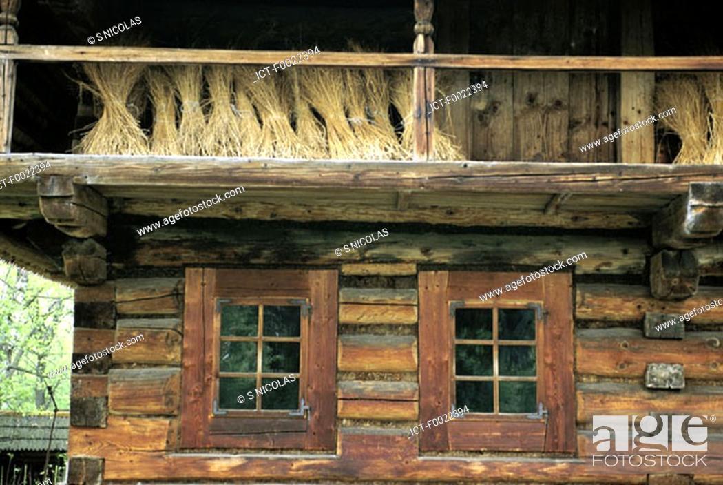 Stock Photo: Poland, near Zakopane, traditional dwelling.