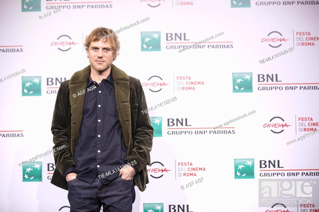 """Stock Photo: Johnny Flynn attends the photocall of the movie """"""""Stardust"""""""" during the 15th Rome Film Festival on October 16, 2020 in Rome, Italy."""