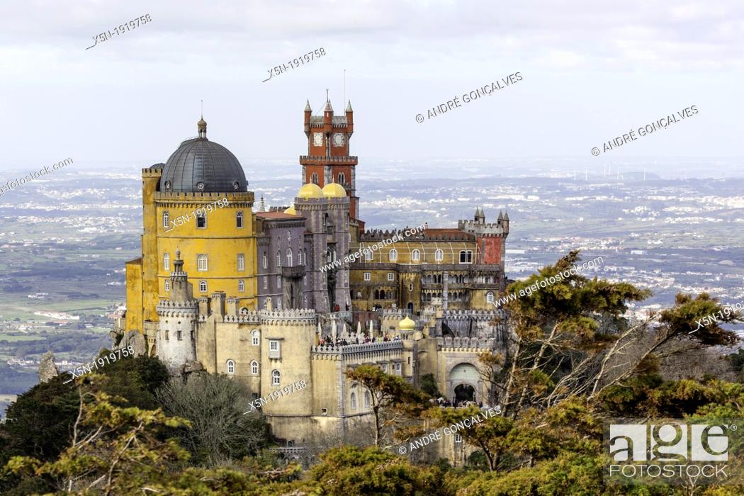 Stock Photo: Pena Palace, Sintra Natural Park, Portugal, Europe.