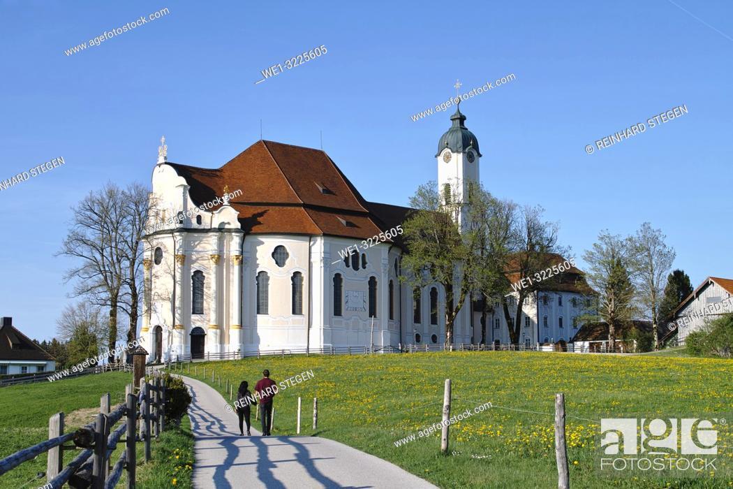 Stock Photo: Pilgrimage Church of Wies.