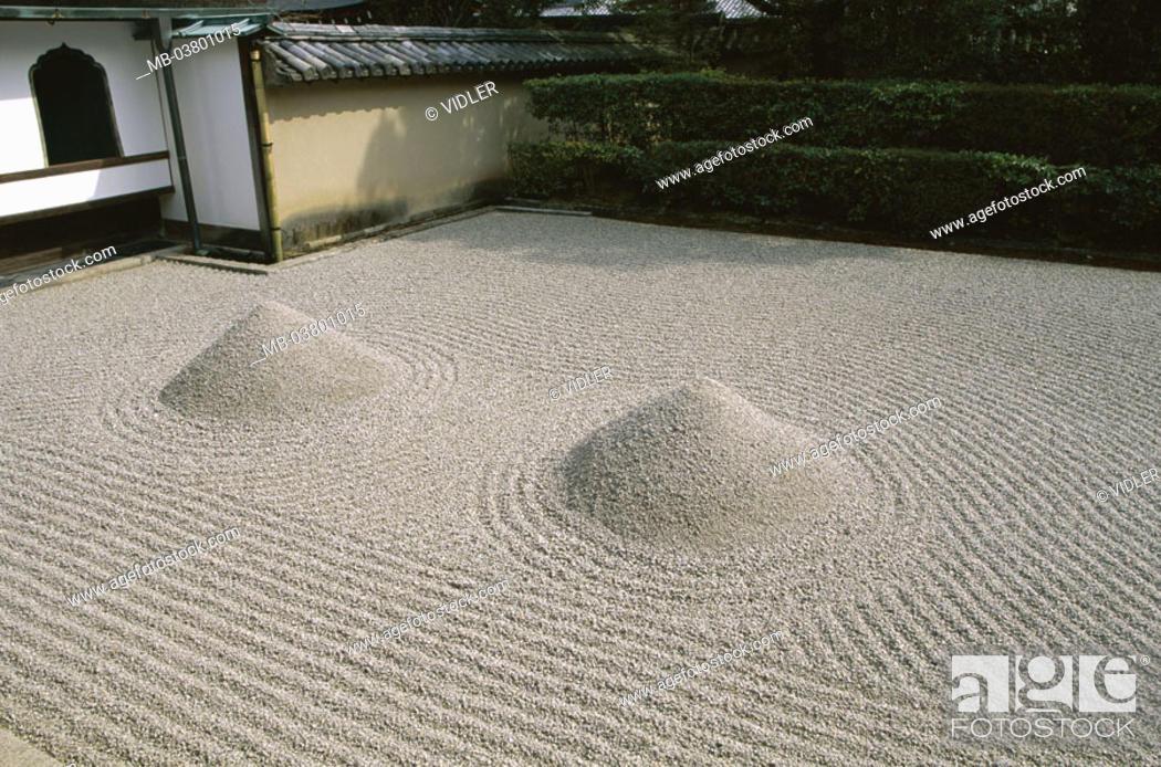 Japan Island Honshu Kyoto Daitokuji Tempel Daisen In Zen Garten