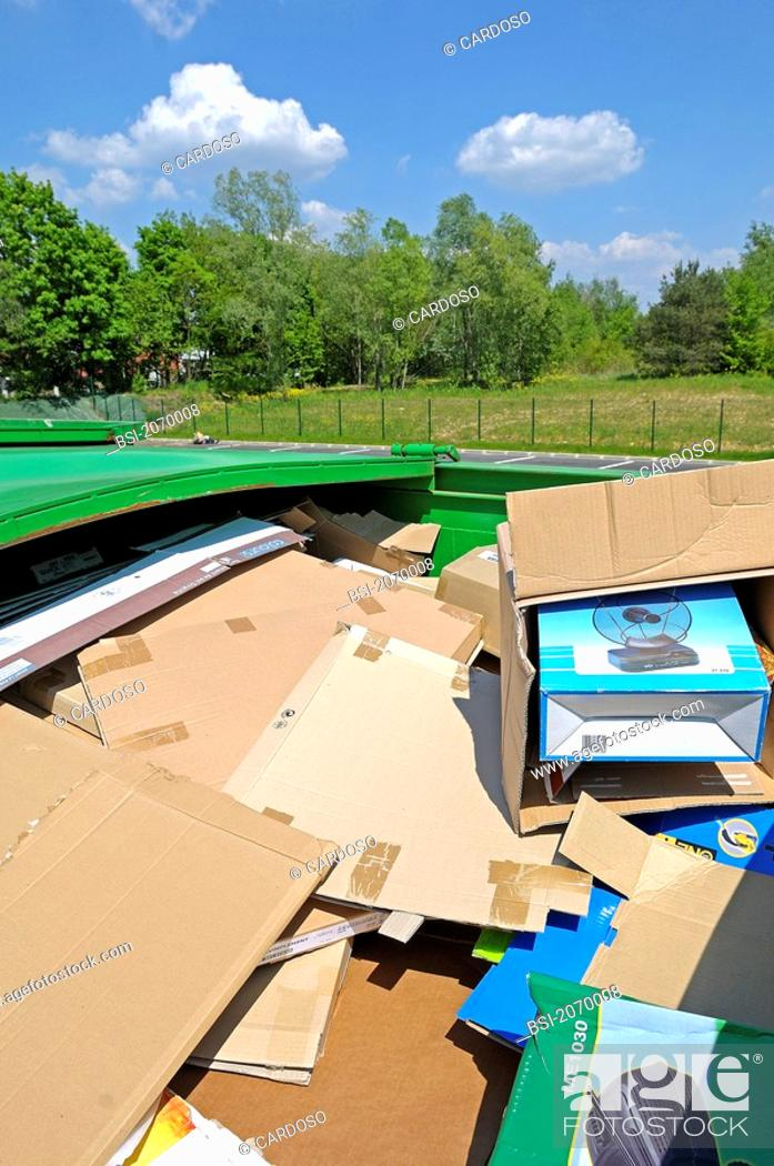Stock Photo: Municipal waste collection centre.