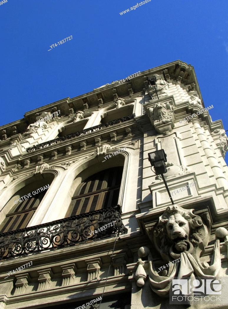 art nouveau architecture in downtown montevideo uruguay south