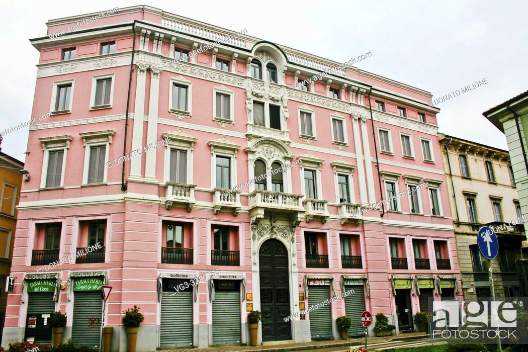 Stock Photo: Monza, Brianza, Lombardy, Northern Italy. A palace in Via Carlo Porta.