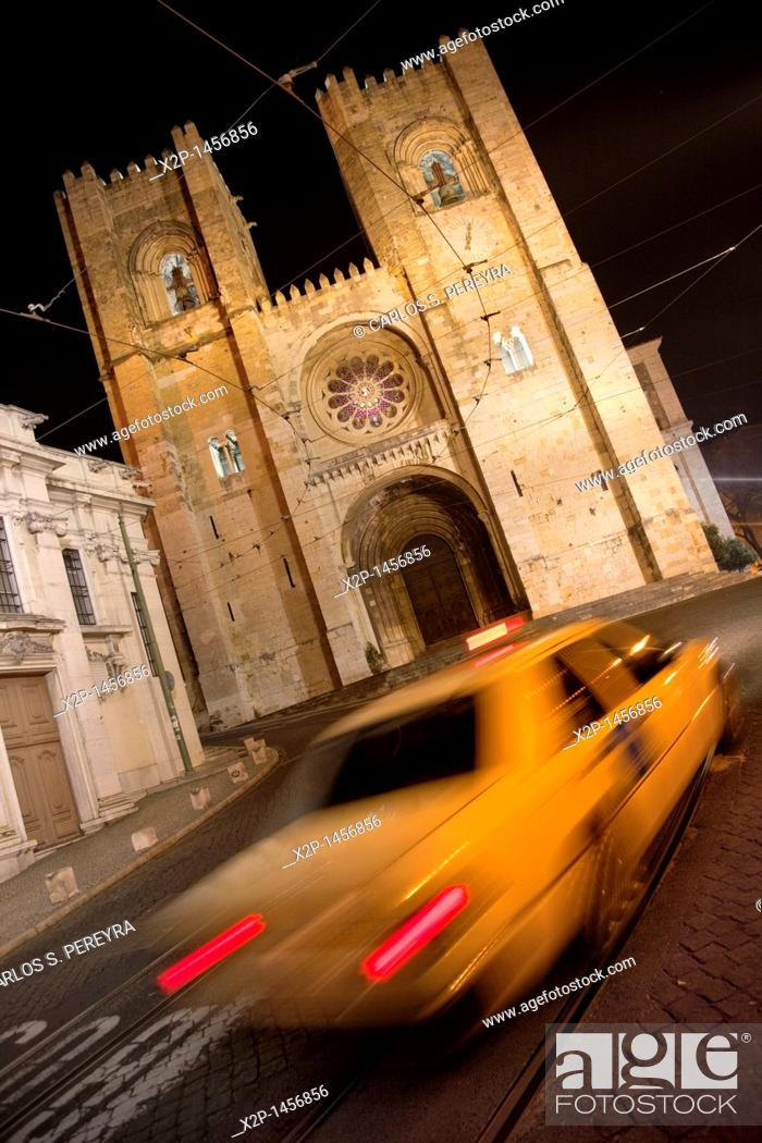 Stock Photo: San Miguel church in Alfama, Lisbon, Portugal.