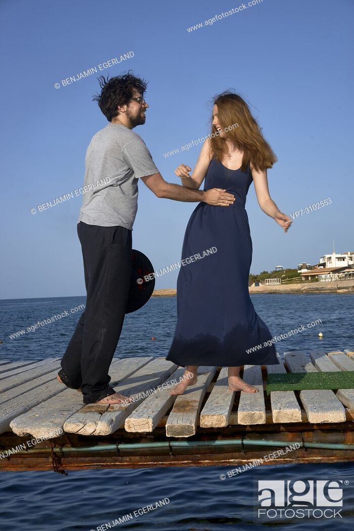 Photo de stock: Greece, Crete, Hersonissos, couple.