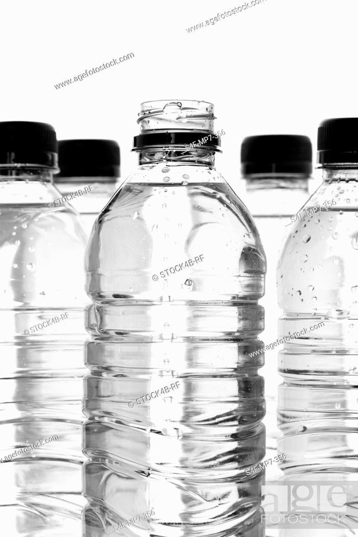 Stock Photo: Detail of water bottles.