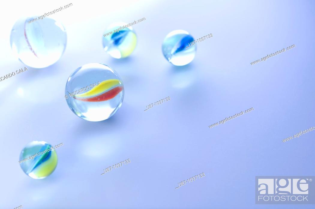 Stock Photo: Glass marbles.