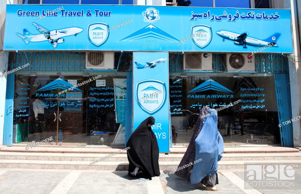 Stock Photo: travel agency shop in herat, Afghanistan.