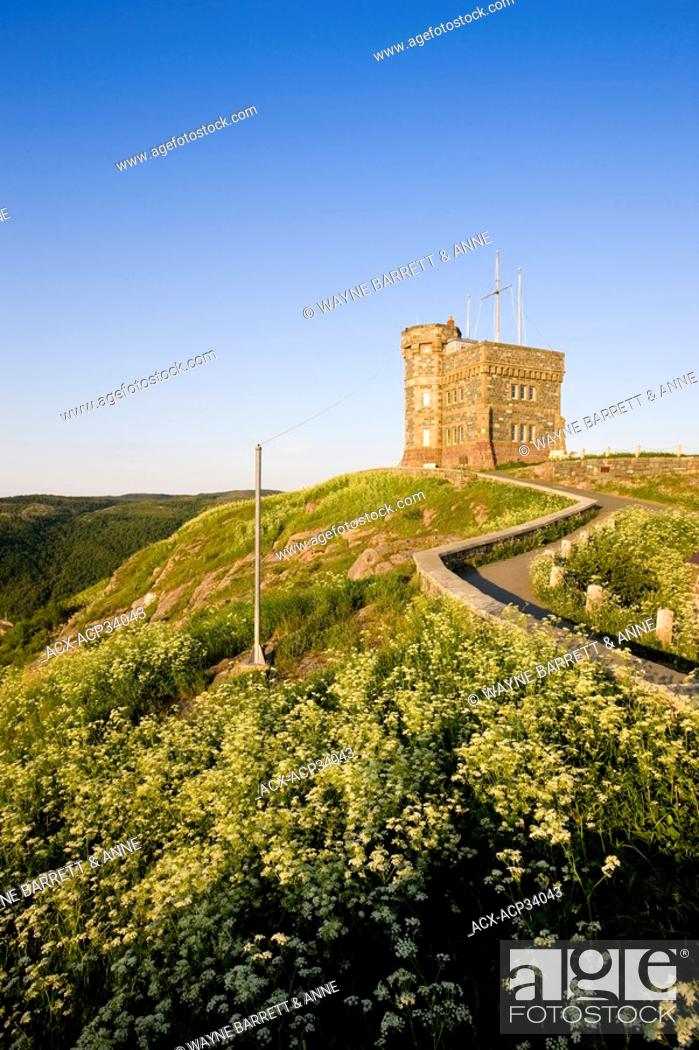 Stock Photo: Cabot Tower on Signal Hill National Historic Site, St. John's, Newfoundland and Labrador, Canada.