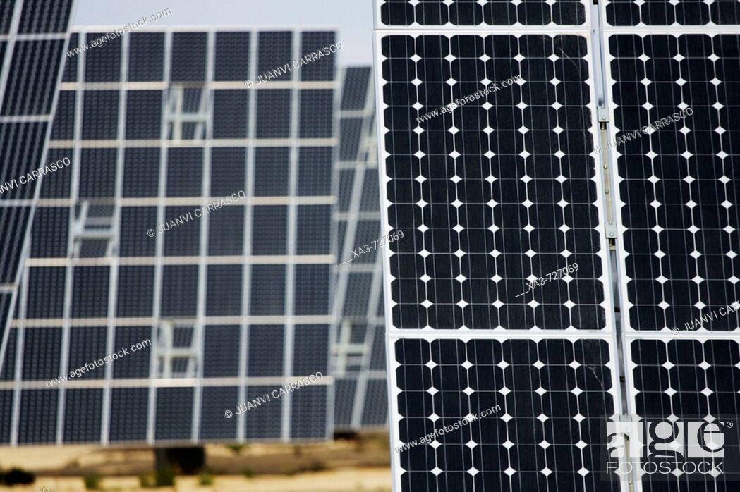 Stock Photo: Solar panels. Murcia, Spain.