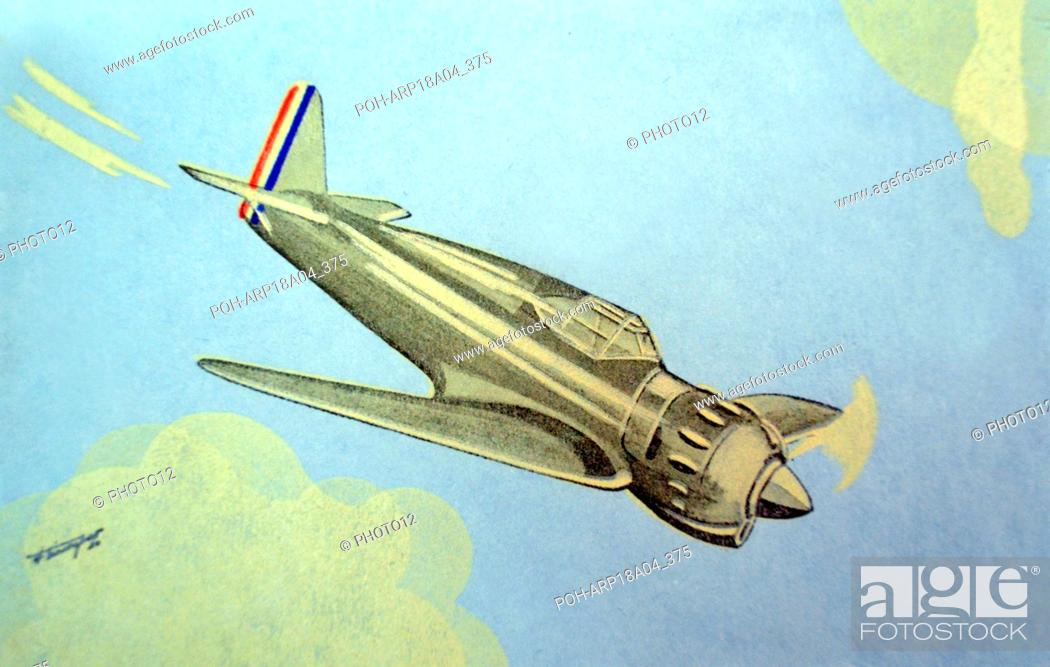 World War Two: French postcard depicting a French Bloch 151