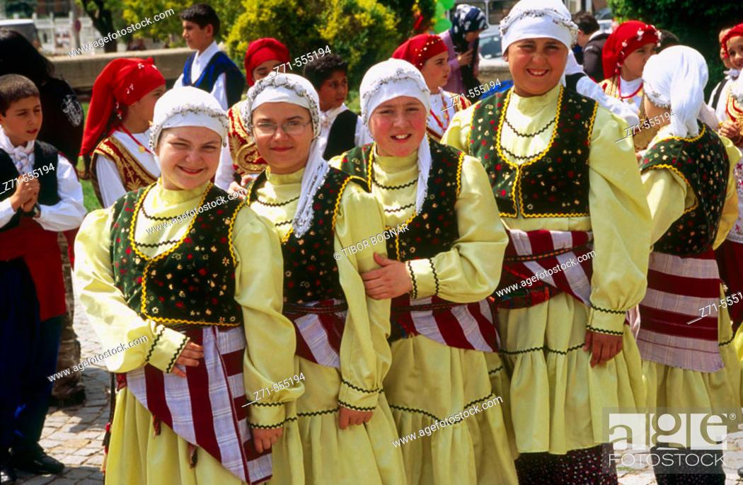 Stock Photo: Children with traditional dress. Edirne,Turkey.