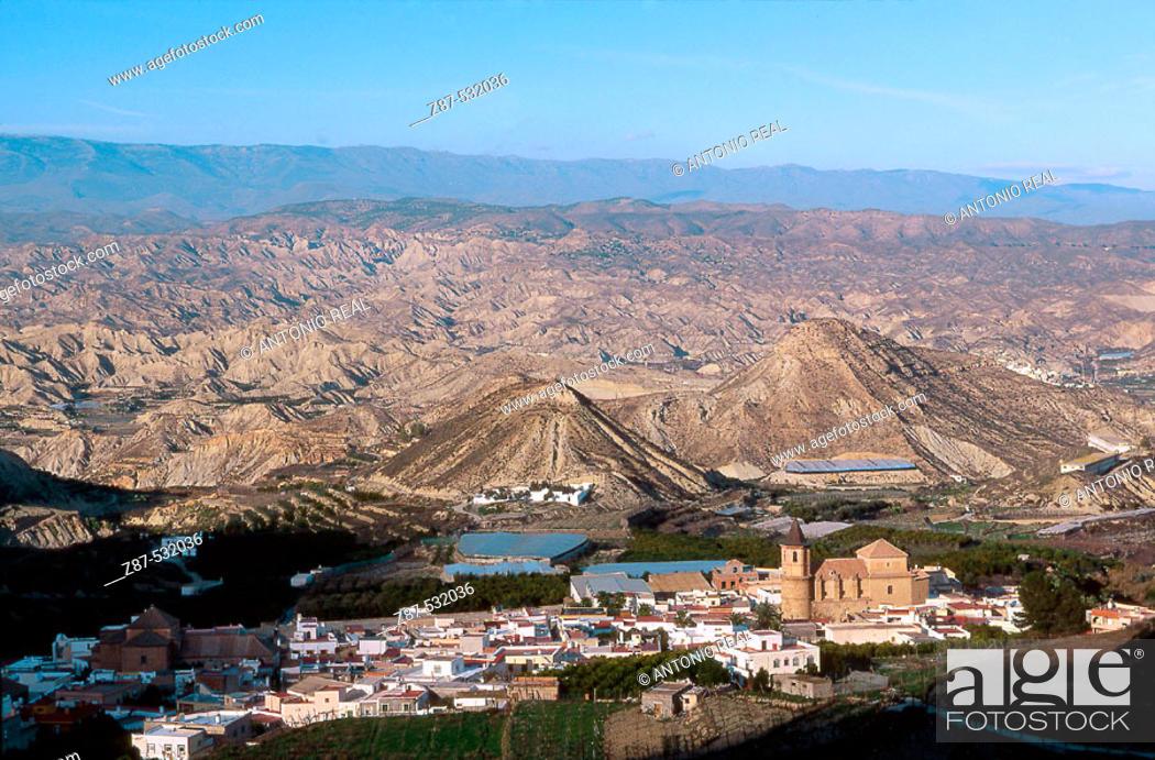 Stock Photo: Alicún. Andarax river valley, Almería province. Andalusia, Spain.