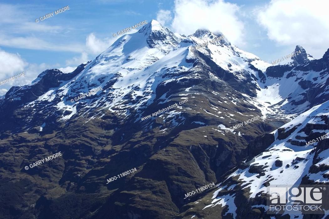 Stock Photo: Snow-topped mountain.