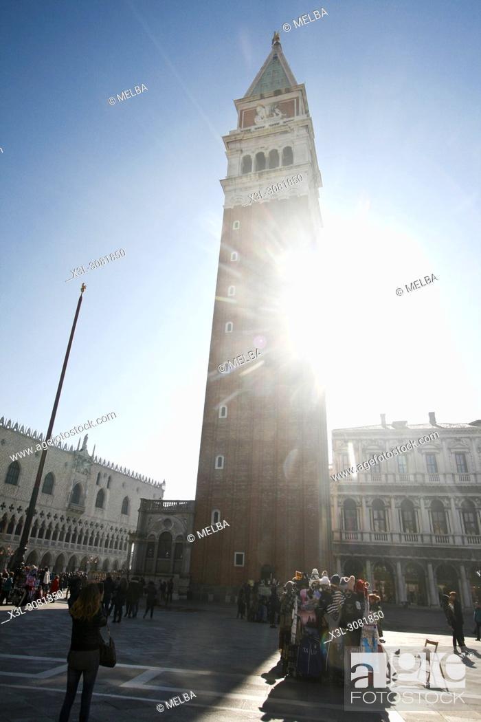 Stock Photo: Campanile, San Marco square. Venice. Italy.