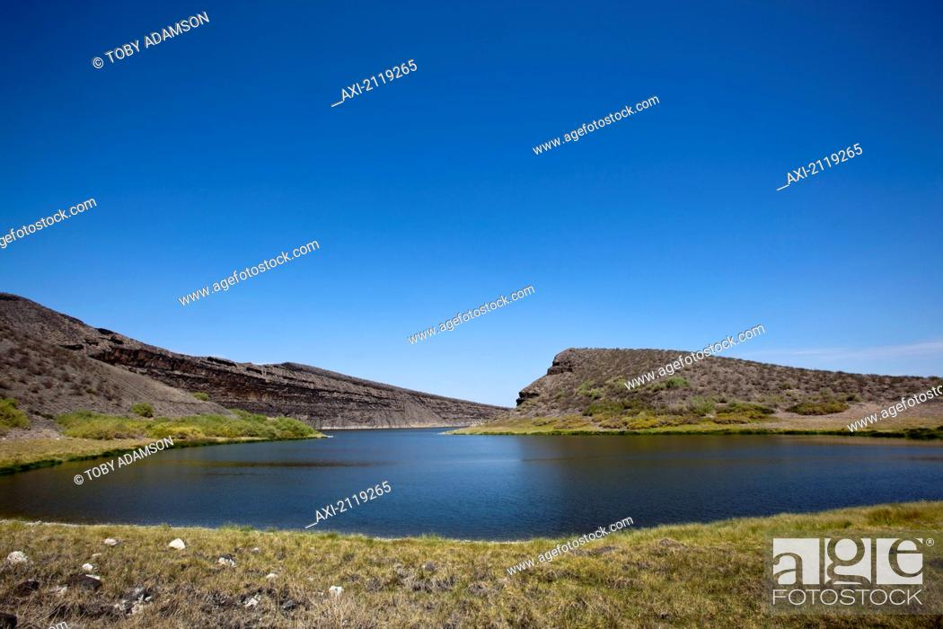 Stock Photo: Kenya, Crocodile lake in Central Island National Park; Turkana.