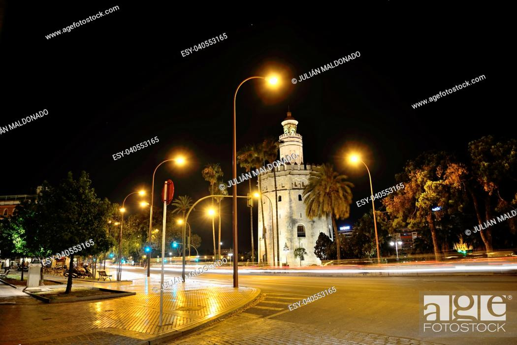 Stock Photo: Monument of the Torre del Oro, Seville.