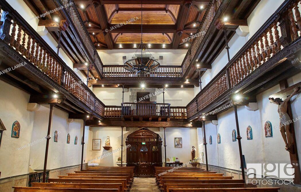 Imagen: L'église Notre Dame de l'Assomption, Ainhoa, Pyrénées-Atlantiques department, Aquitaine region, France, Europe.