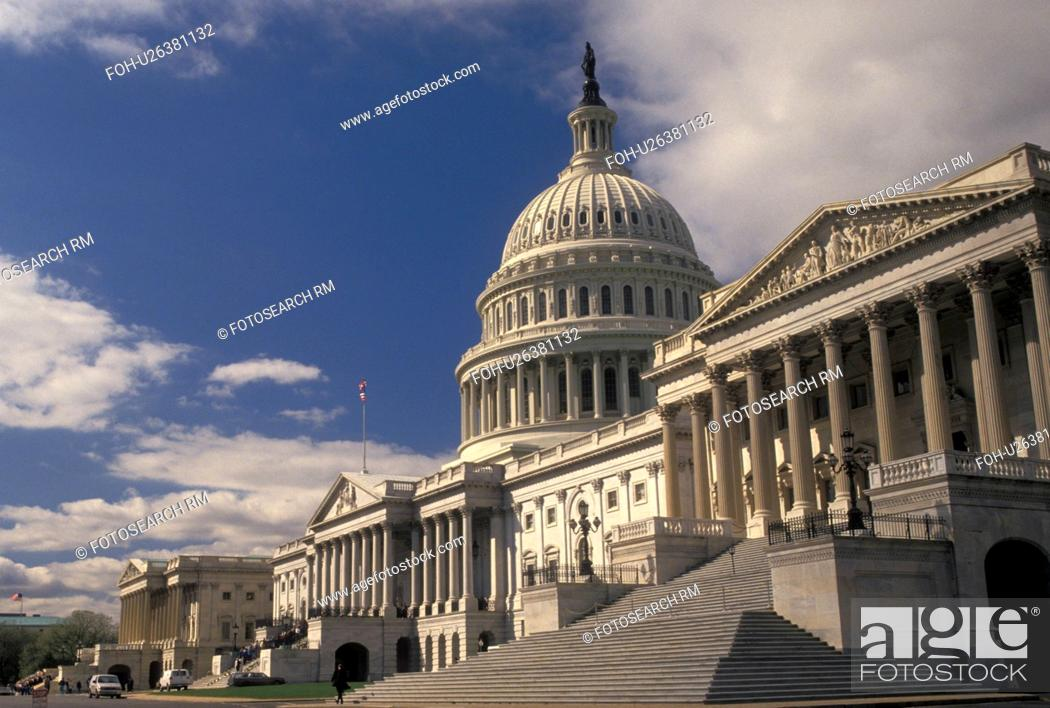 Stock Photo: U.S. Capitol, Washington, Capitol, DC, District of Columbia, United States Capitol Building on Capitol Hill in Washington, D.C.