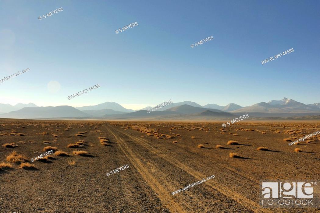 Stock Photo: landscape in the Pamir Mountains, Tajikistan, Pamir Mountains, Pamir Plateau.
