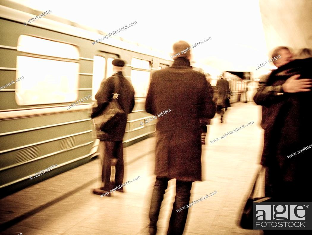 Stock Photo: Subway in Moscow, Russia.