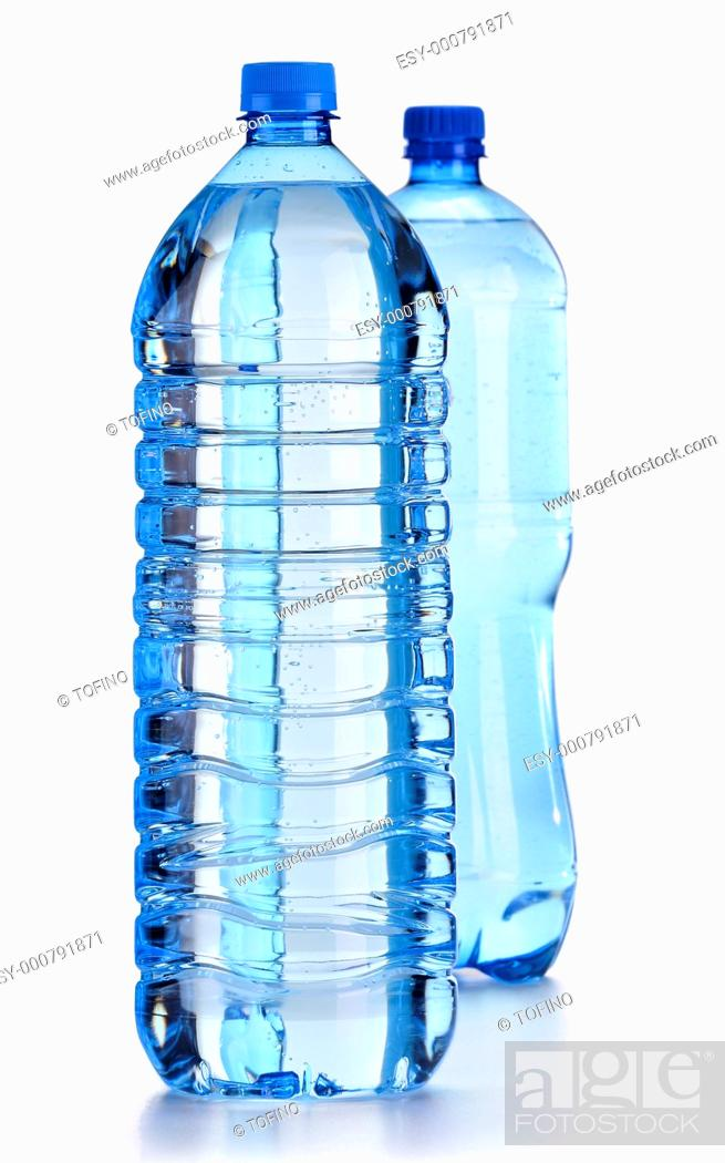 Stock Photo: Bottle of water isolated on white.