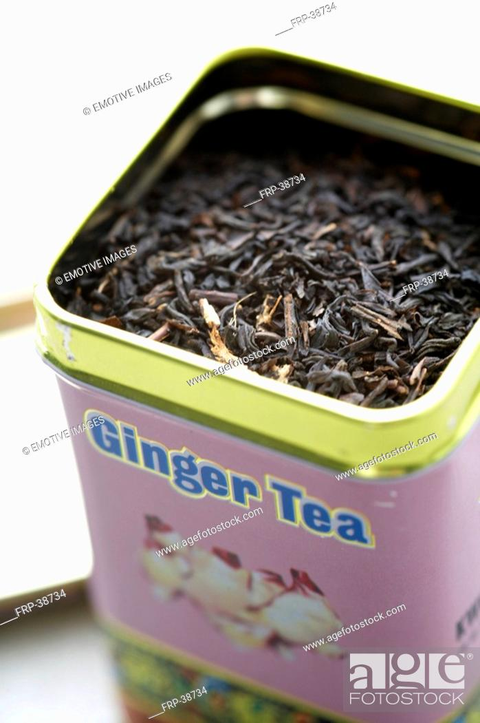 Stock Photo: gingered tea.