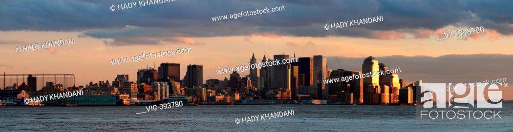 Manhattan skyline, lower Manhattan, downtown (seen from