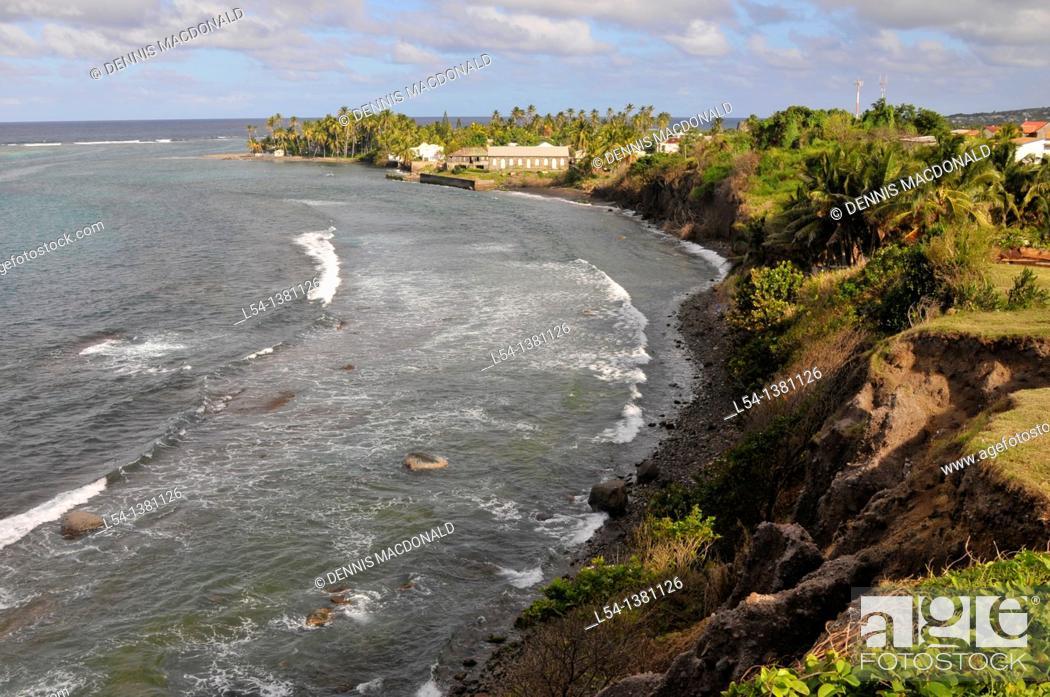 Stock Photo: Coastline Basseterre St  Kitts Caribbean Island Cruise NCL.
