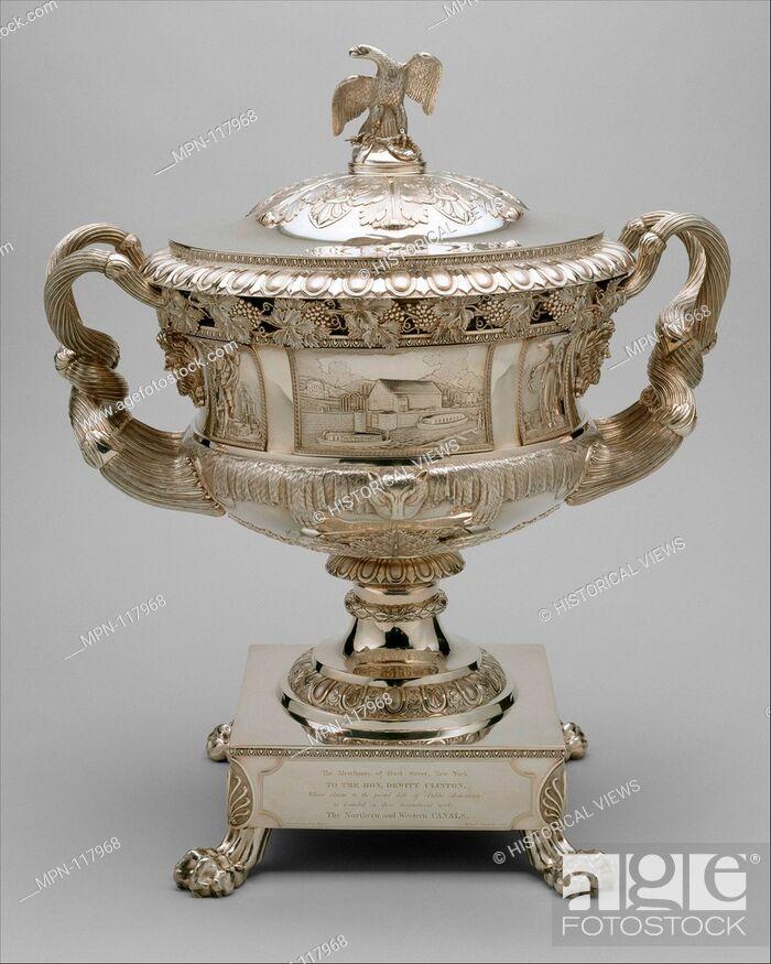 Stock Photo: Presentation Vase. Maker: Thomas Fletcher (American, Alstead, New Hampshire 1787-1866 New Jersey); Maker: Sidney Gardiner (American, Mattituck.
