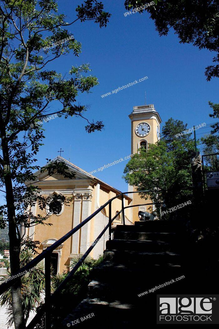 Imagen: France , Cote D'Azur, Eze L'Eglise Church of Notre-Dame de L'Assumption. Zoe Baker.