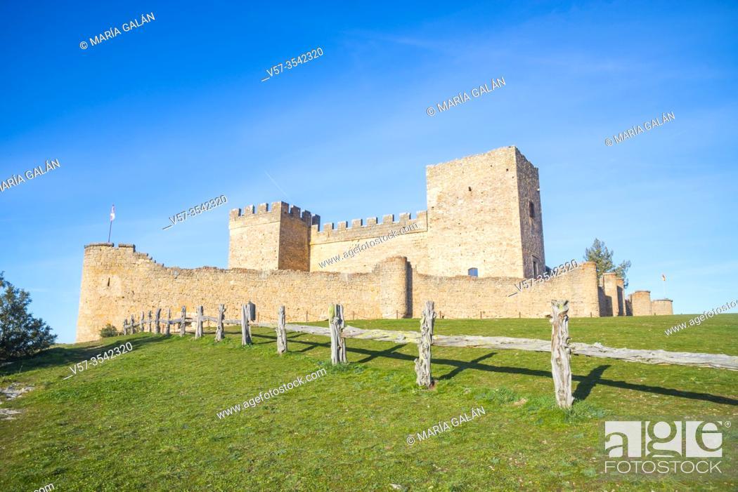 Stock Photo: Castle. Pedraza, Segovia province, Castilla Leon, Spain.